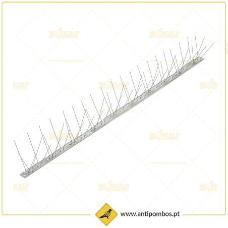 Espigões Anti-Pombo 3 Hastes Inox METRO Proteção até 15 cm