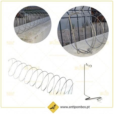 Espiral Anti Pássaros Inox para extensões/áreas longas