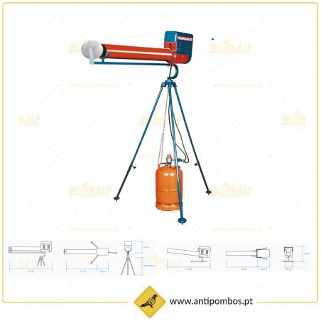 Canhão a Gás Guardian 2 - Rotativo Simples