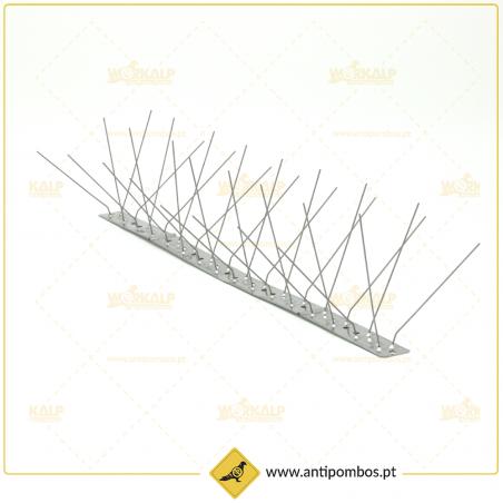 Espigões Anti-Pombo 3 Hastes Inox Proteção até 15 cm